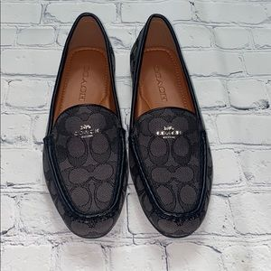 COACH Black Driver Loafer 7.5